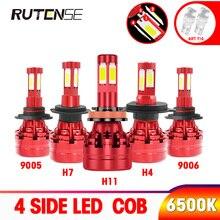 4 الجانب العلوي COB led h7 led h4 h11 h1 h3 9005 hb3 9006 hb4 9012 hir2 h8 h9 880 9004 9007 h13 سيارة كشافات لمبة 12V 24V 6500K