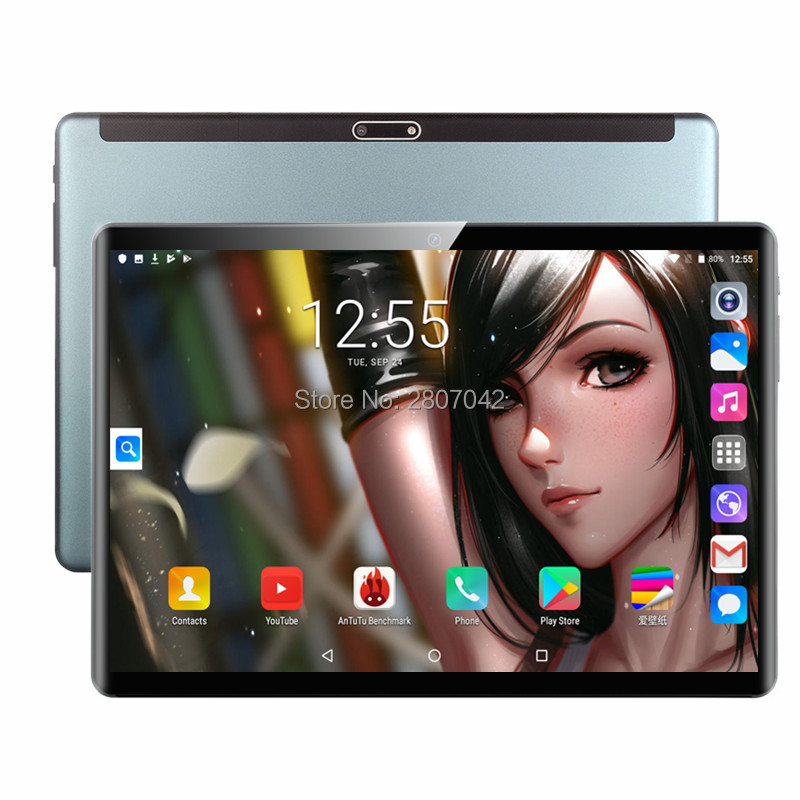 128GB ROM 10 Inch Tablet PC 6GB RAM Dual SIM Unlocked 4G LTE 3G WiFi Usb Bluetooth Android 9.0 Tablets The Tablet 10
