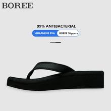 Outdoor Slippers Wedges Platform Flip-Flops Sand Fashion Summer Women BOREE Deodorization
