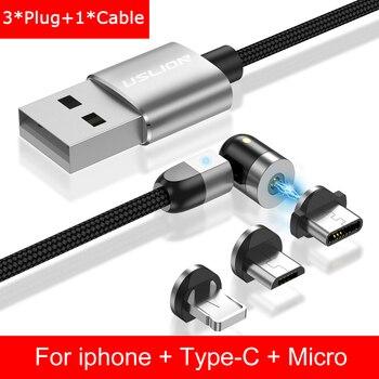 Καλώδιο Μαγνητικής Φόρτισης Micro USB Για iPhone Samsung USB C Γρήγορης Φόρτισης A.I. Gadgets MSOW