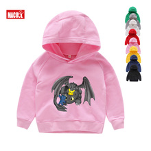 Boys Girls How To Train Your Dragon Toothless Cartoon Print Hoodies Sweatshirts Kids Funny Winter Pink Long Sleeves 6T