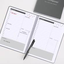 Daily Hourly Appointment Planner Non-Dated with To-Do List ,Summary, Flexible Cover Spiral Planner Daily Agenda Planner