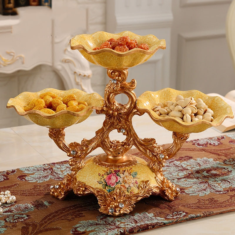 Best Deal 5cf9 European Luxury Fruit Plate Resin Accessories