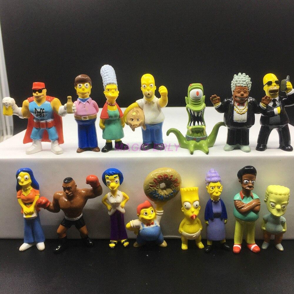 Anime Toy 14pcs//set Family Simpsons PVC Figures Collectible Model Toys