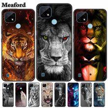 Para realme c21 caso de telefone animal luxo capa para oppo realme c21 c 21 caso silicone tpu proteção fundas para realme c20