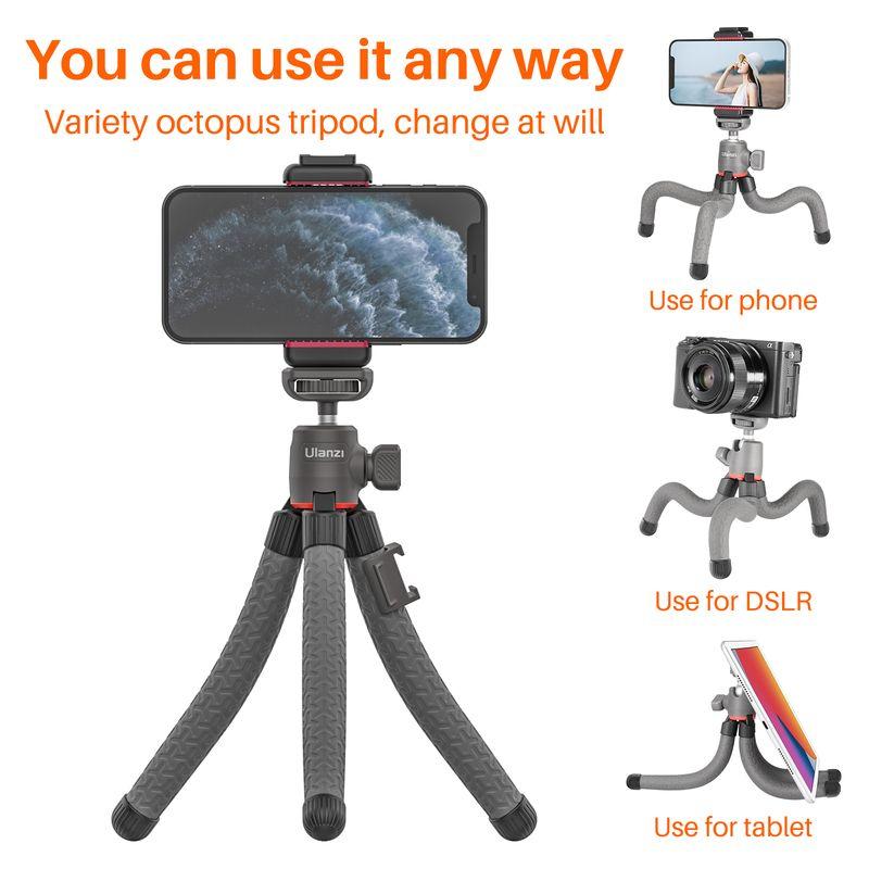 Ulanzi MT-19 Mini Flexible Octopus Tripod with Phone Mount Holder SLR Camera Smartphone Vlog Tripod for Sony ZV1 A6400 A6600