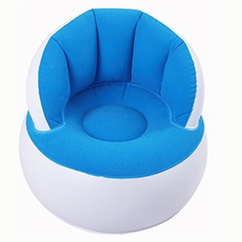 Kids Flocking Chair Pouf With Backrest Inflatable Soft Sofa For Kids TB Sale