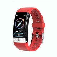 Ecg ppg inteligente pulseira 24 horas de temperatura do corpo freqüência cardíaca pressão arterial oxigênio monitoramento fitness pulseira inteligente