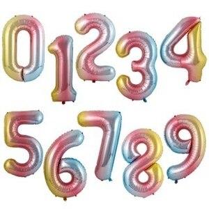 40 дюймов градиент розового, красного, золотого, серебряного цвета; Большое количество воздушный шарик из фольги в форме, для детей 0, 1, 2, 3, 4, 5, 6, 7, 8, 9, 18 лет, костюмы для дня рождения вечерние свадебные украшения