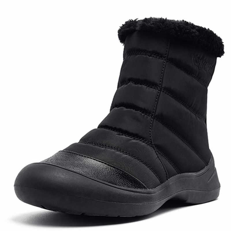 FEDONAS Popüler Platform Çizmeler Sonbahar Kış Sıcak Kadınlar Fermuar yarım çizmeler Vintage Aşağı Kar Botları Ofis rahat ayakkabılar Kadın