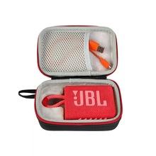 2021 najnowszy twardy EVA walizka podróżna ochronny podręczny schowek-organizer dla JBL GO 3 wodoodporny przenośny głośnik bezprzewodowy Bluetooth tanie tanio PAVAREAL CN (pochodzenie) Obudowa głośników Case for JBL GO 3 Portable Bluetooth Speaker PU+EVA 20112101 Black 180*120*70mm