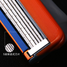 16pcs/box Razor Blade For Men Face Care 5 Layers Shaving Cassette Stainless Steel Safety Blades