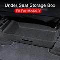 Новинка для Tesla модели Y 2021 под сиденьем ящик для хранения высокой Ёмкость Органайзер чехол войлочную ткань держатель для ящиков аксессуары ...