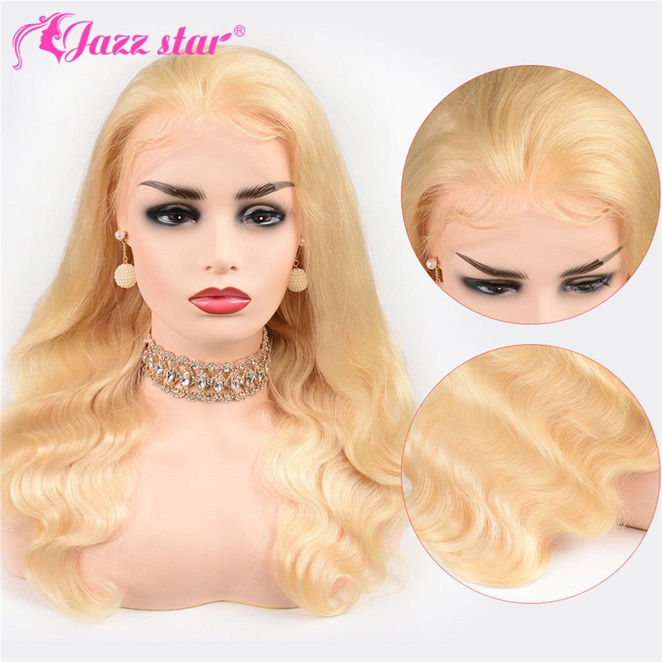 Brazilian Wig 13*4 Body Wave 613 Lace Front Wig Lace Front Human Hair Wigs Pre-Plucked With Baby Hair Jazz Star Non Remy Hair