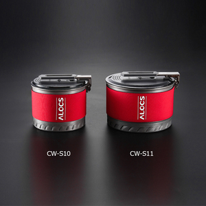 Image 5 - Alocs CW S10 CWS1 חיצוני החלפת חום קמפינג סיר בישול כלי בישול מתקפל ידית עבור טיולים תרמילאים פיקניק