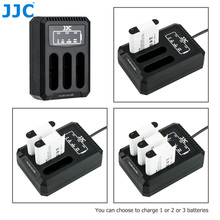 JJC USB לשלושה סוללה מטען עבור Ricoh GRIII WG6 אולימפוס קשה TG6 TG5 TG4 TG3 TG2 TG1 מצלמות עבור Ricoh DB 110 אולימפוס LI 90B