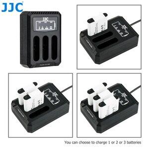 Image 1 - JJC USB לשלושה סוללה מטען עבור Ricoh GRIII WG6 אולימפוס קשה TG6 TG5 TG4 TG3 TG2 TG1 מצלמות עבור Ricoh DB 110 אולימפוס LI 90B