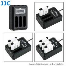 Jjc usbトリプルバッテリー充電器リコーgriii WG6オリンパスタフTG6 TG5 TG4 TG3 TG2 TG1カメラリコーDB 110オリンパスLI 90B