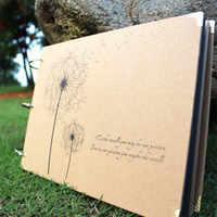 10 pouces album de bricolage Pissenlit Série album de bricolage bricolage À La Main Photo Albums pour Amant Bébé Mariage Autocollants Scrapbooking 10 Pages