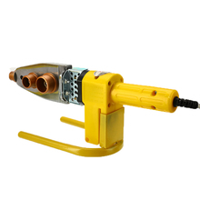 220V 8Pcs Automatic Electric Welding Tool Heating PPR PE PP Tube Welded Pipe Welding Machine+ Stand+Box Heads+ Yellow