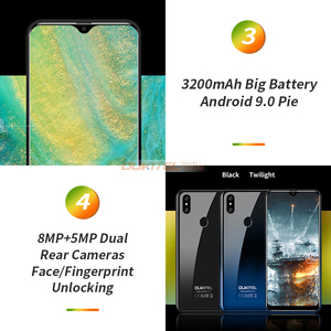 Image 4 - OUKITEL C15 Pro+ 3GB 32GB Android 9.0 MT6761 Mobile Phone Waterdrop Screen Smartphone 4G LTE  2.4G/5G WiFi Fingerprint Face ID