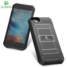 FLOVEME Armor Power Bank Charger Case para iPhone 7 8 6 6S Plus 6S 7 8 cargador portátil batería externa Fundas de teléfono funda