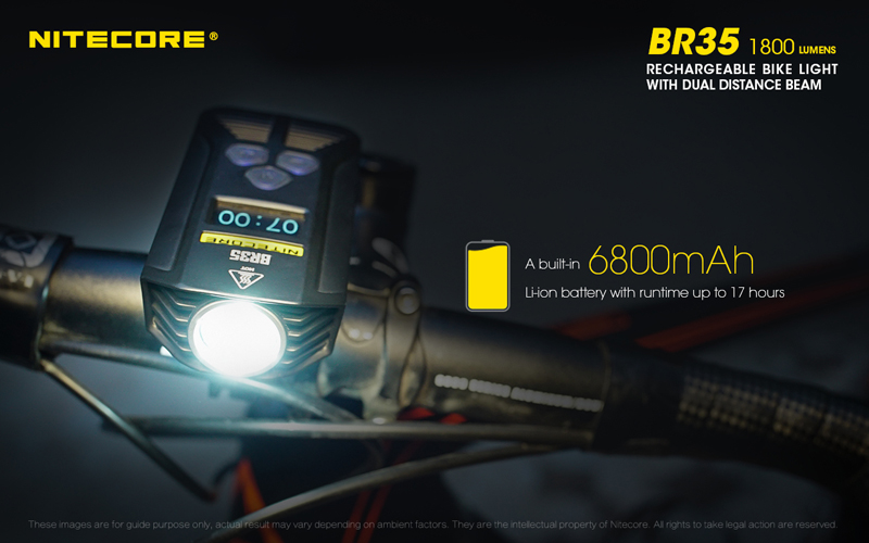 Nitecore BR35 1800 Lumens Rechargeable Bike Bicycle Front Light (14)
