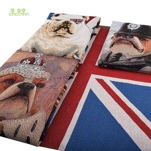 Chainho,4 шт. серии собак, окрашенная в пряже полиэфирная хлопковая Лоскутная ткань, жаккардовая ткань для DIY швейной подушки, стаканов, сумок ма...