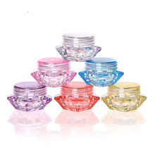 15g 30g 50g cone shape acrylic cream container pink cosmetic cream bottle cosmetics packaging pot tin skin care makeup can 3g / 5g gram diamond cream box cream bottle trial small sample bottle cosmetic packaging sub-box bottle  Container Organizer