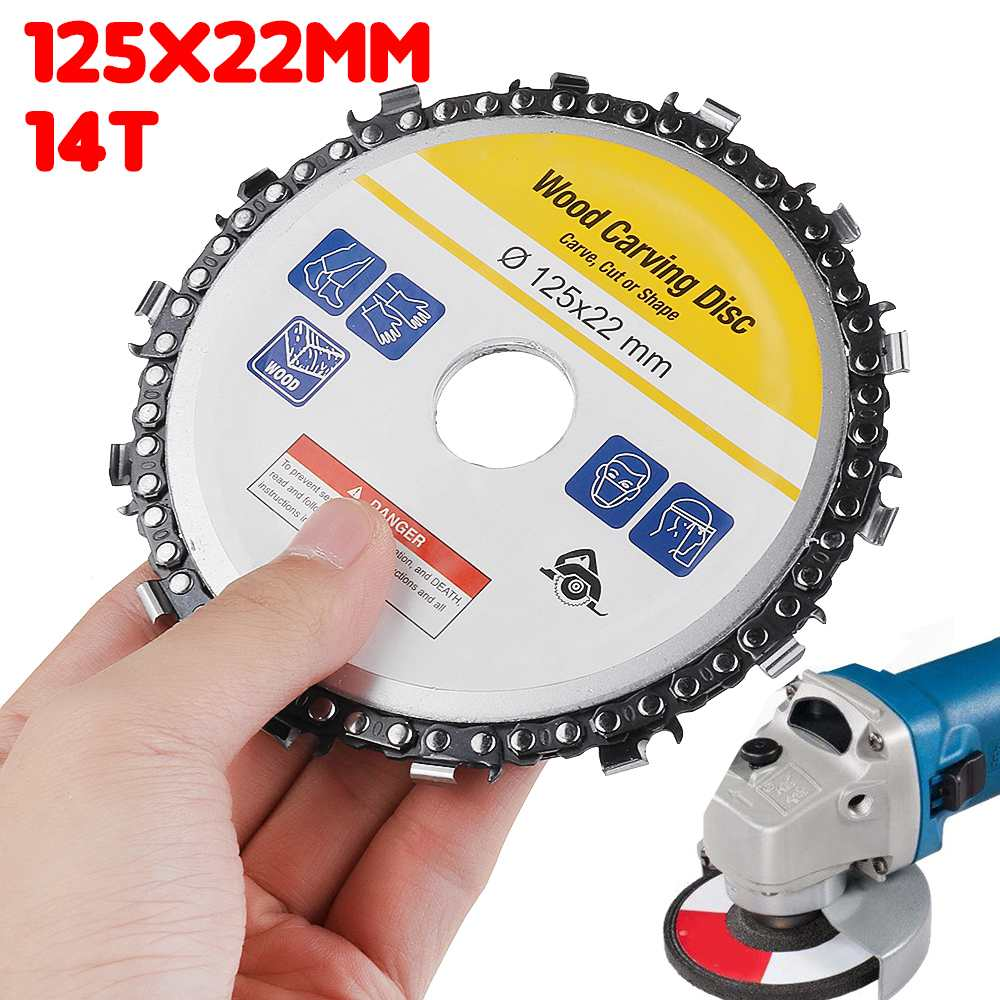 Wood Carving Disk 125mm 5 Inch Grinder Disc Chain Circular Carbide Woodworking Saw Blade Cutting Blade Wood Slotted Saw Blade
