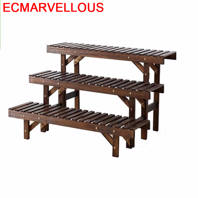 Macetas Estanteria Jardin Estante Repisa Para Plantas Escalera Decorativa Madera Outdoor Rack Balcony Flower Shelf Plant Stand