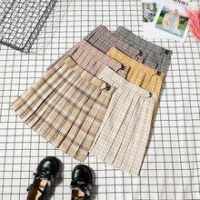 Теннисная юбка с шортами с высокой талией, плиссированная Студенческая танцевальная юбка, бейсбольная форма с Innner, трусы Badminon, Болельщица