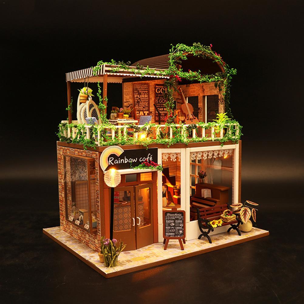 Hba2a22ef86f0453c83938a71f1188302N - Robotime - DIY Models, DIY Miniature Houses, 3d Wooden Puzzle
