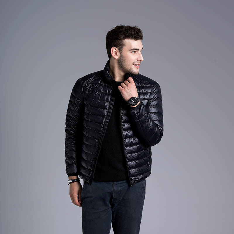 Winter Casual 2020 Jacket Mens Outwear Coat Lightweight Parka Stand Collar Mens Winter Jackets And Coats Plus Size S-3XL YYJ0031