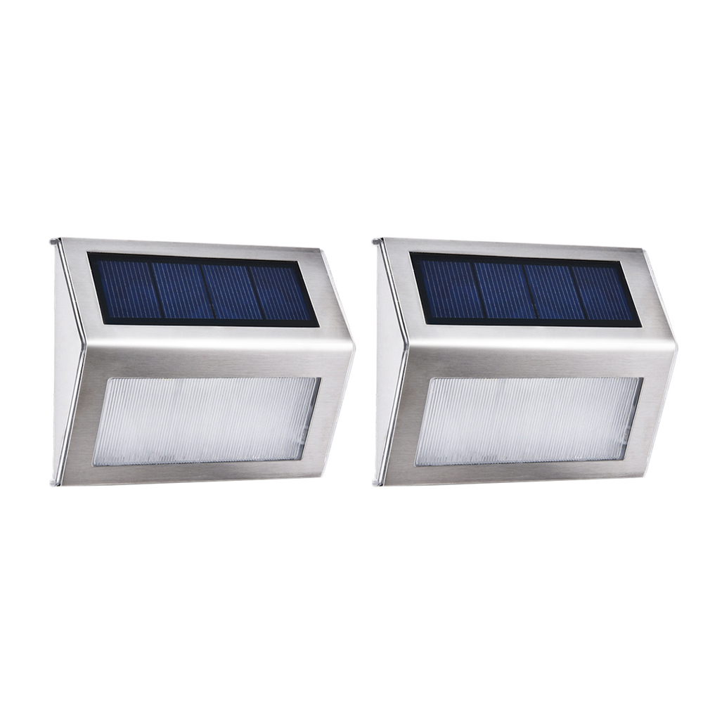 1PC Outdoor Solar Power LED Light Garden Fence Wall Pathway Stair Yard Lamp Home Garden Supplies