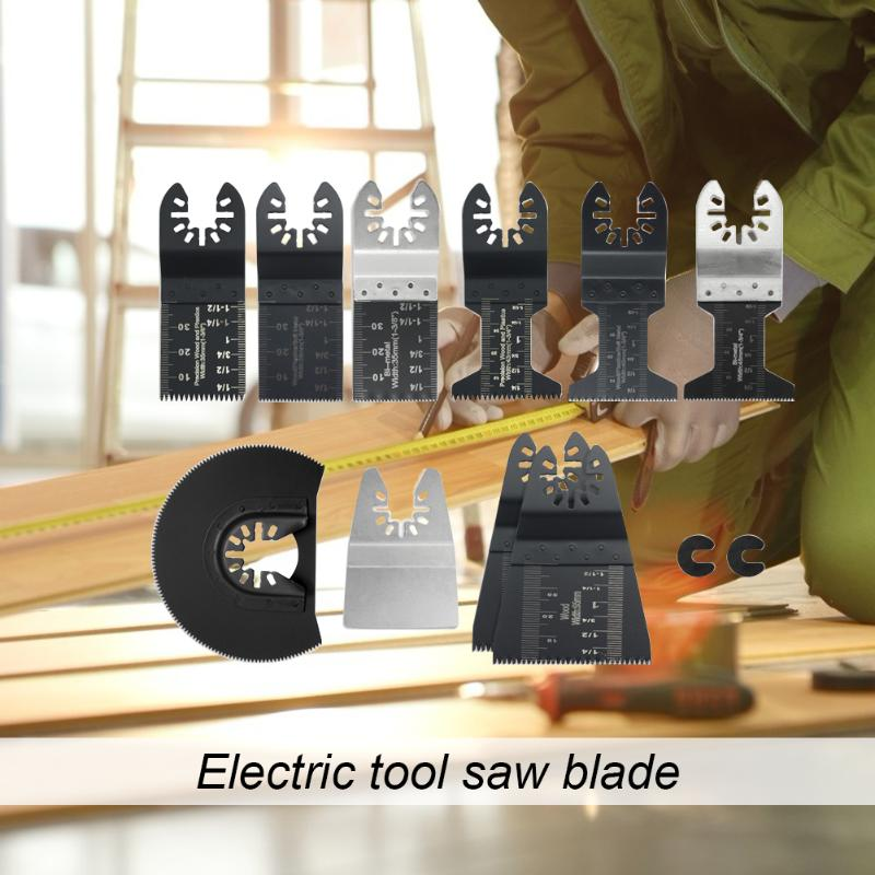 12pcs/set Multi Shapes Electric Tool Saw Blades Steel Tipped Woodworking Saw Blade Wood Metal Polishing Cutting Tools