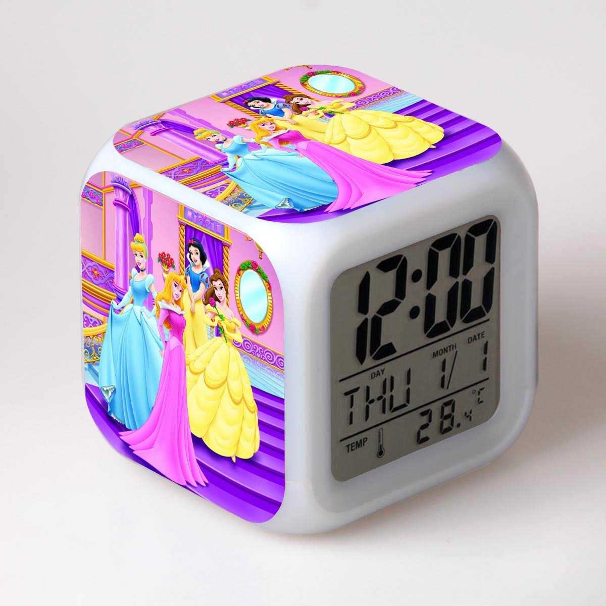 Principessa Biancaneve E I Sette Nani Pvc Modello Giocattolo Bambola Della Principessa Sveglia Con LED Flash di Luce Giocattolo Per i bambini Regalo Di Compleanno