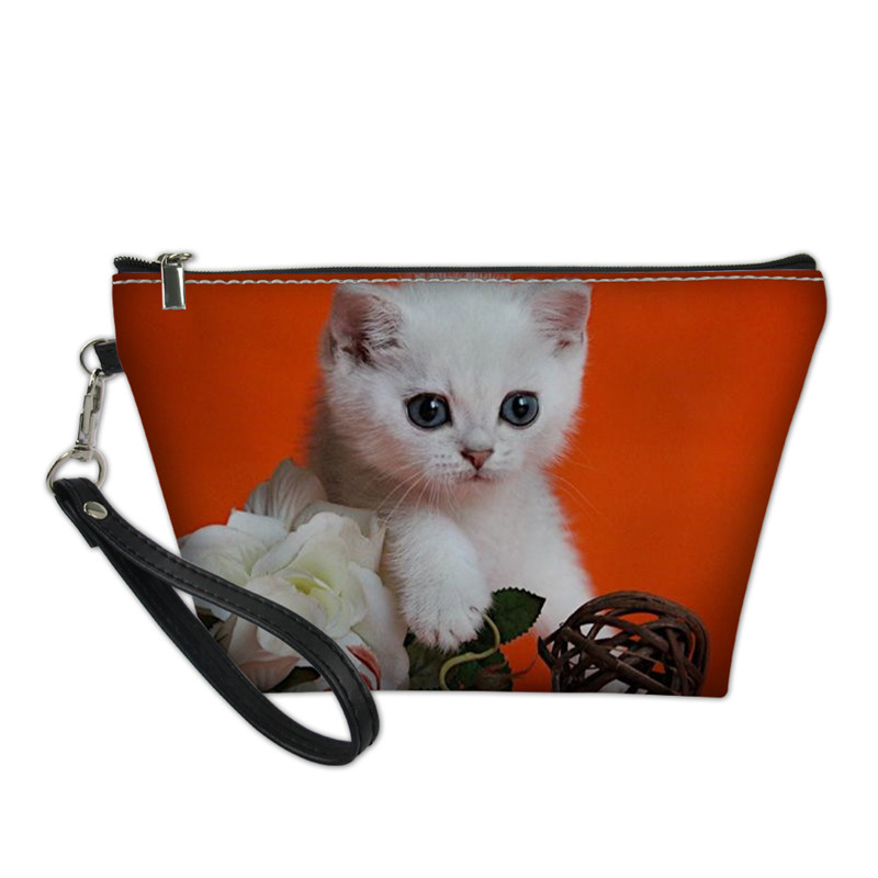 2019 New Custom 3D Naughty Cute Cat Cosmetic Bag Women Girls Female Necessarie Custom Fashion Casual Makeup Bag Drop Shippinp