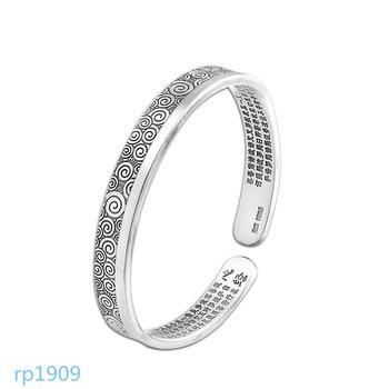 KJJEAXCMY boutique jewelry 999 sterling silver jewelry Buddha women's Xiangyun heart bracelets old