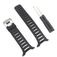 Soft Rubber Watch Band Metal Buckle Wrist Strap for SUUNTO T1 T1C T3 T3C T3D T4C T4D T Series Smart Watch Accessories