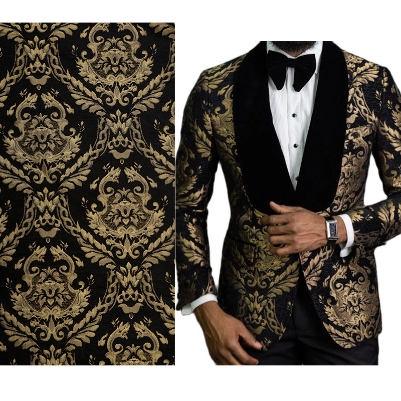 Floral Suit Fabric 145cm Width for Wedding Prom Tuxedo New Arrival