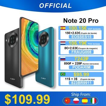 "Cubot Note 20 Pro Quad Camera Smartphone NFC 6GB/8GB+128GB 6.5"" 4200mAh Android 10 Dual SIM Telephone 4G LTE Celular Note20 Pro 1"