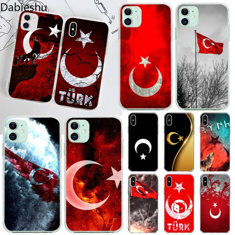 Turkey Turkish Flag Shell Phone Case for iphone 12 pro max 11 pro XS MAX 8 7 6 6S Plus X 5S SE 2020 XR cover