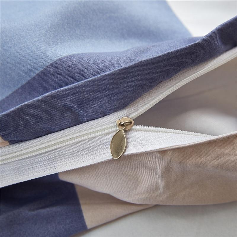 2019 Nantong Textile Four-piece Bed Sheet Set-Style Simple Four-piece Bedding Set Twill Double Sheet Set Kit