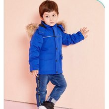 Boy Gril Children's Canadian Goose Down Down Jacket Outdoor Thicken Keep Warm Windproof Waterproof Wear Baby Clothes 2019NEW(China)