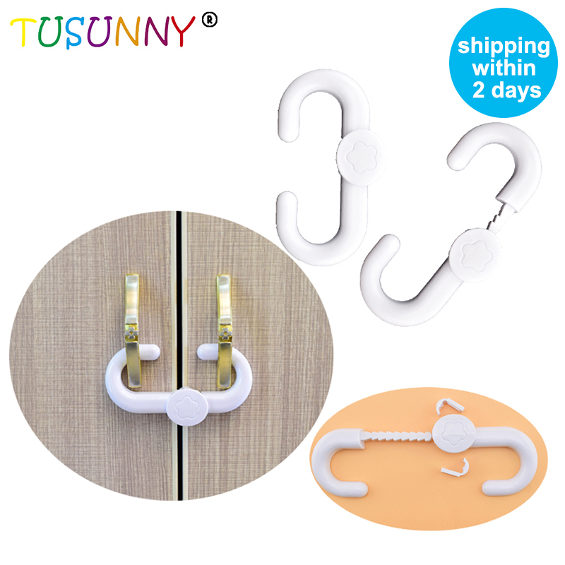 TUSUNNY 1 Pc Safety Plastic ABS Baby Safety Lock Sliding Door ABS Safety Locks For Children CabinetS Safety Drawer Latch