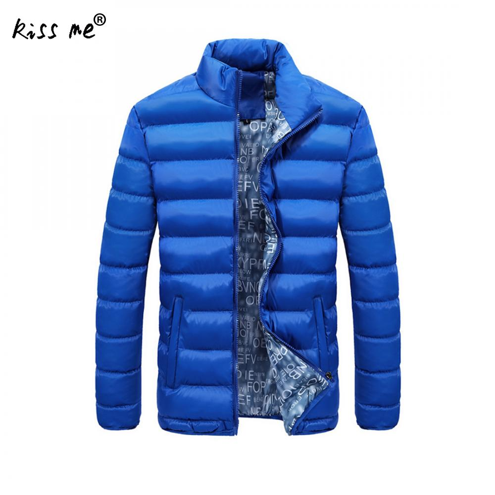 Plus Size Men Winter Outdoor Down Jacket Solid Thermal Warm Parkas Stand Collar Windproof Casual Cotton Clothing Down Coat