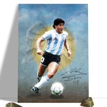 Diego Maradona Football Poster Canvas Comics Printed sports Decoration Painting Home Wall Living Study Room Child Room Bedroom 19