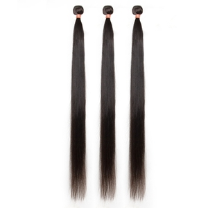Image 2 - brazilian hair extension bundles 8 to 30 40 inch human hair bundles with closure non remy natural straight short long hair weave