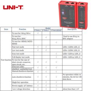 Image 2 - UNI T اختبار كابل الشبكة الرقمية RJ45/RJ11/BNC/HDMI LAN السيارات إيثرنت أداة إصلاح الهاتف LED خط مدقق